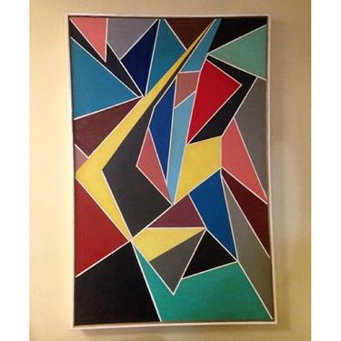 Large wall painting, 70's, 5x3 foot approximately.