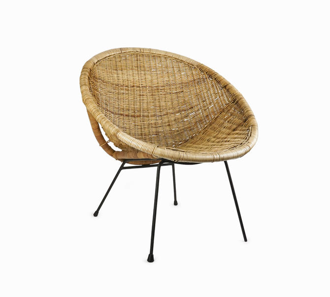 Franco Albini Wicker Armchair Chair Mid Century Modern by VintageInquisitor