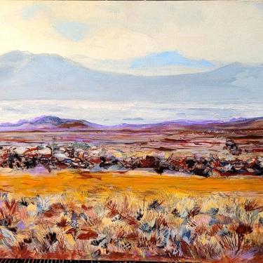 Beautiful Landscape Painting Oil on Canvas Mountains by LazyDogAntiqueStore
