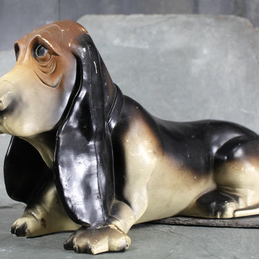 Ain't Nothin' But a Hound Dog Piggy Bank! - Large Size Plastic Hound Dog Coin Bank - Dog Lovers   FREE SHIPPING by Bixley