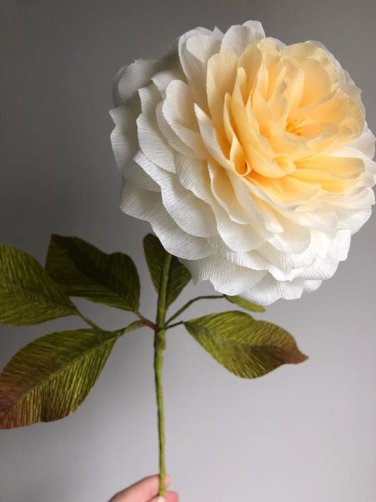 Crepe Paper Garden Rose -- Paper Flowers for Home Decor or Weddings by ReveryPaperFlora