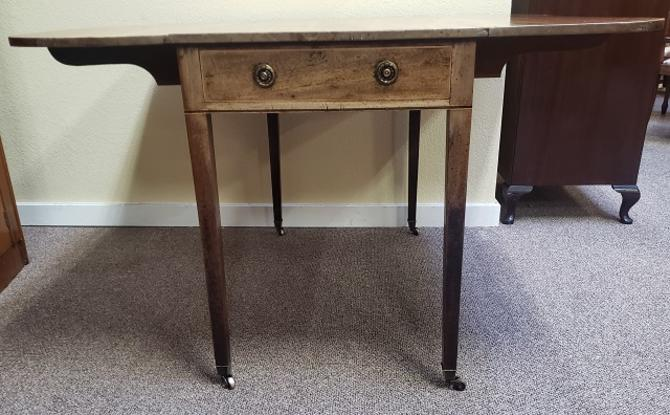 DMY4 Mahogany Drop Leaf Table and Drawer c.18th Century