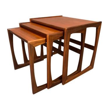 "Vintage British Mid-Century Modern Teak ""Quadrille"" Nesting Tables by G Plan by AymerickModern"