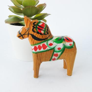 RARE Mini Neutral Hand Crafted Vintage Dala Horse - Made In Sweden by OLSSON by PortlandRevibe