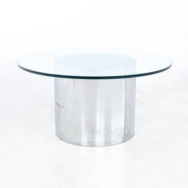 Mid Century Round Glass and Chrome Coffee Table - mcm by ModernHill