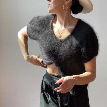 Vintage Ann Taylor Rabbit Hair Sweater    Vintage Y2K Fuzzy Sweater by ShopLaTierra