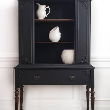 China Cabinet, Hutch, Cabinet, Open Cabinet, Federal Style by AminiDesignAshburn