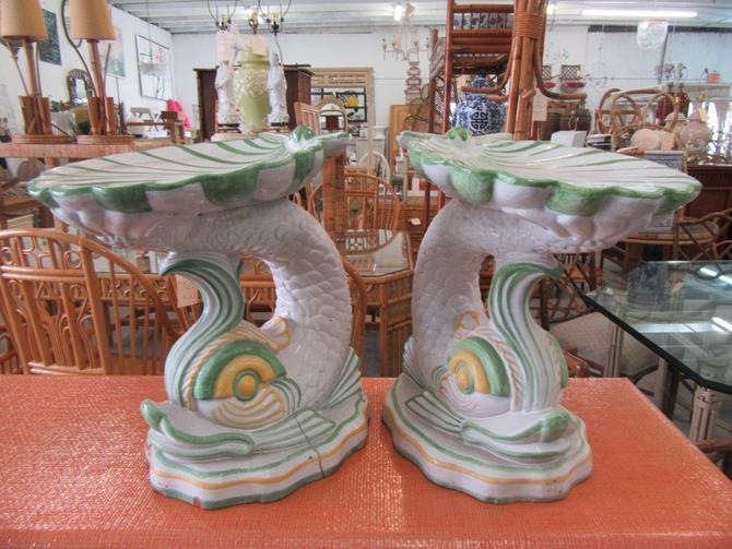 Seashell & Koi Fish Garden Seats