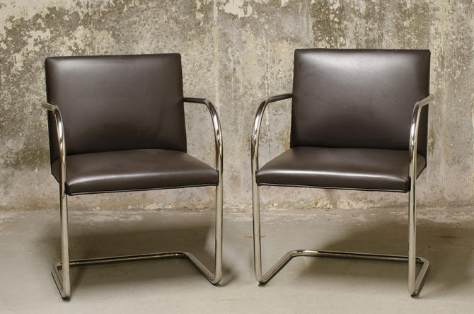 Pair of Mies Van Der Rohe Brno Chairs for Knoll International by QueensMCM