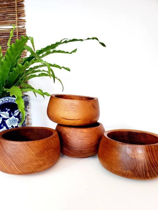 Vintage Kalmar Thai Teak Bowls by pennyportland