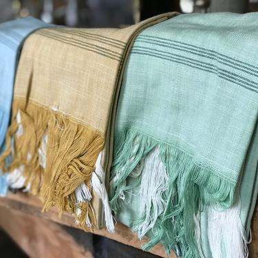 Fringed Cotton Towel, multiple styles