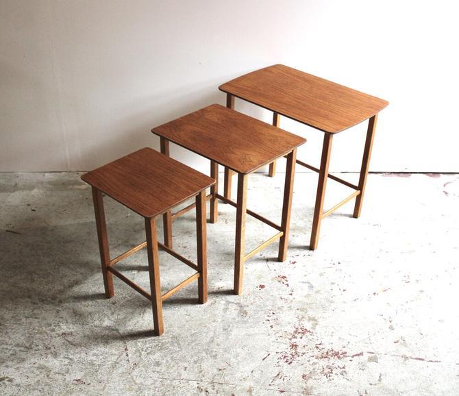 Nesting Tables in Teak & Oak