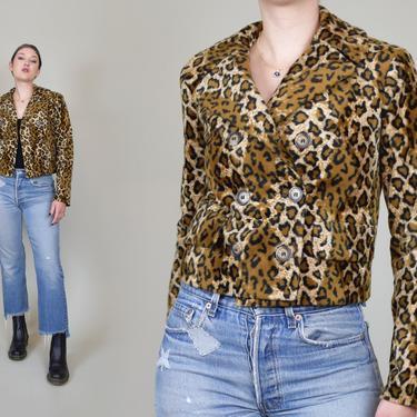 90's Betsey Johnson Leopard Print Jacket | Betsey Johnson Leopard Print Coat | 90s Faux Fur Leopard Print Jacket by WisdomVintage