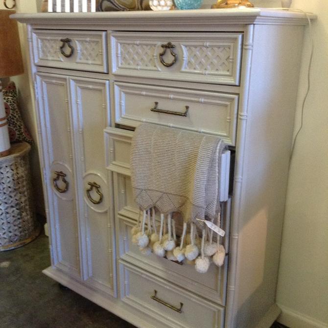 Vintage painted wardrobe