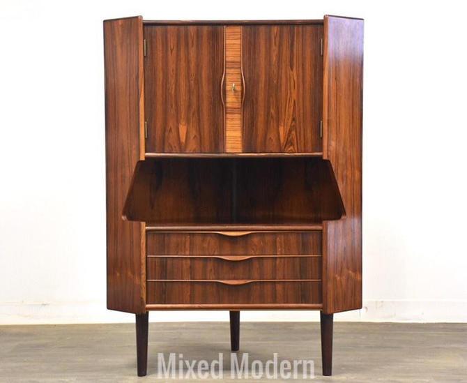 Gunni Omann Rosewood Corner Bar Cabinet by mixedmodern1