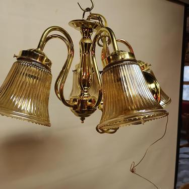 Contemporary Lighting 5 arm chandelier