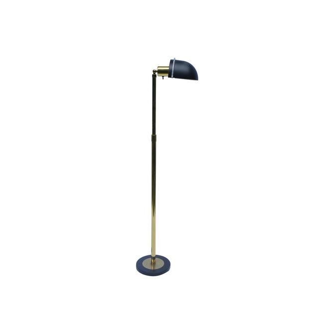 Mid-Century Modern Brass & Lucite Floor Lamp by MetronomeVintage