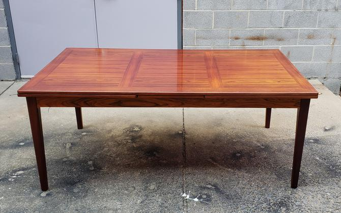 Rosewood Danish Modern Dining Table by Skovby