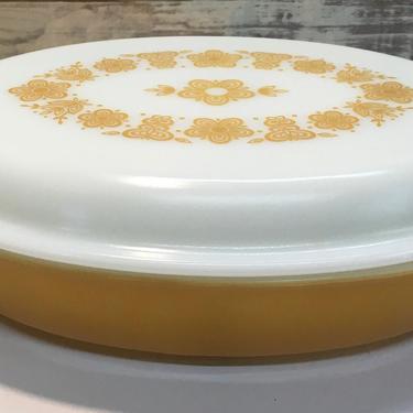 Pyrex Butterfly Gold Casserole Dish #063 by JoyfulHeartReclaimed