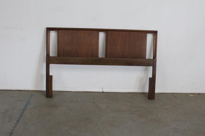 Vintage Mid-Century Modern Walnut Queen/Full Size Bed Headboard by AnnexMarketplace
