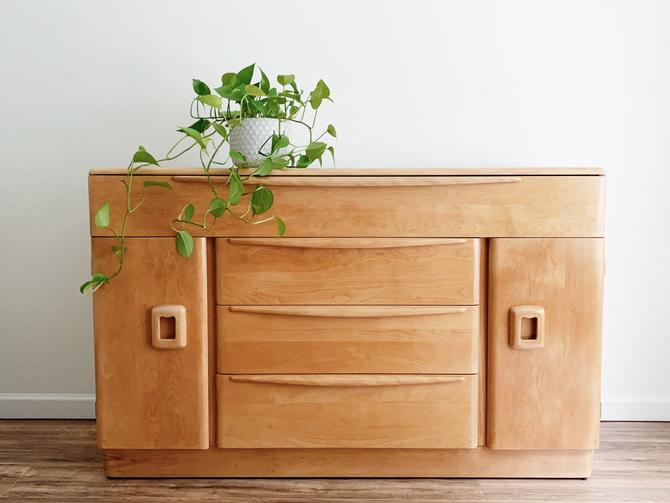 Natural Wood Credenza - Changing Table by madenewdesignct