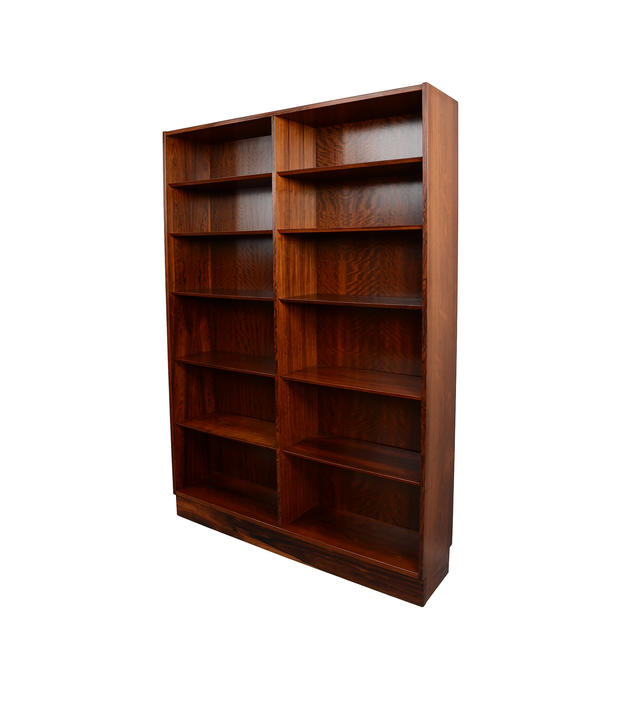 Rosewood Bookcases Double Bookcases Hundevad Danish Modern by HearthsideHome
