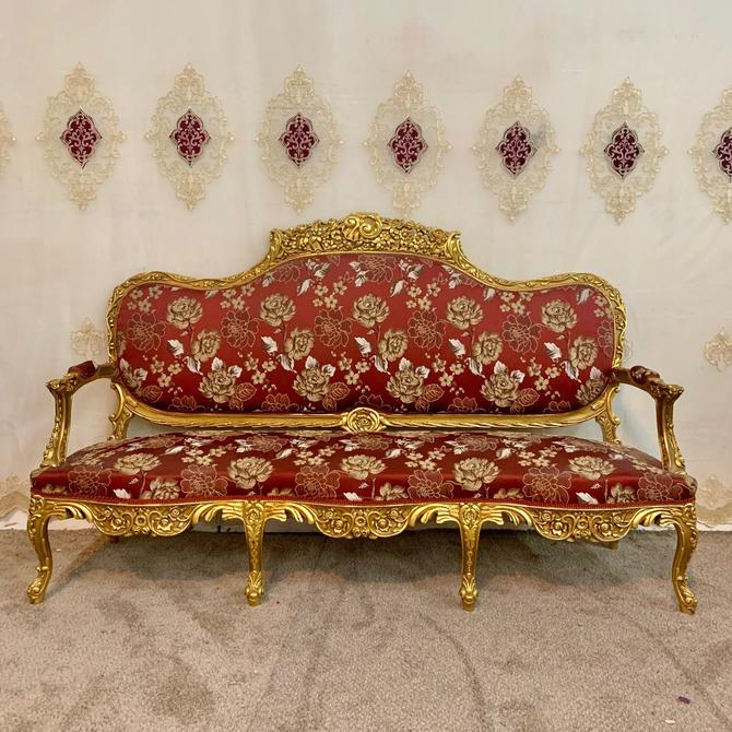 Vintage Chair French Chair Vintage Furniture Settee Interior Designer *6 Piece Available Baroque Furniture Rococo Vintage Sofa French Settee by SittinPrettyByMyleen