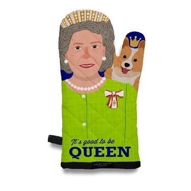 Queen Elizabeth and Corgi Oven Mitt