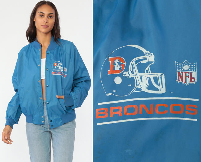 sports shoes d6748 8c72d Denver Broncos Jacket Chalk Line 80s NFL Jacket Varsity 80s ...