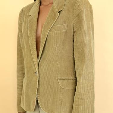 Vintage Tan Brown Corduroy Blazer Jacket by MAWSUPPLY