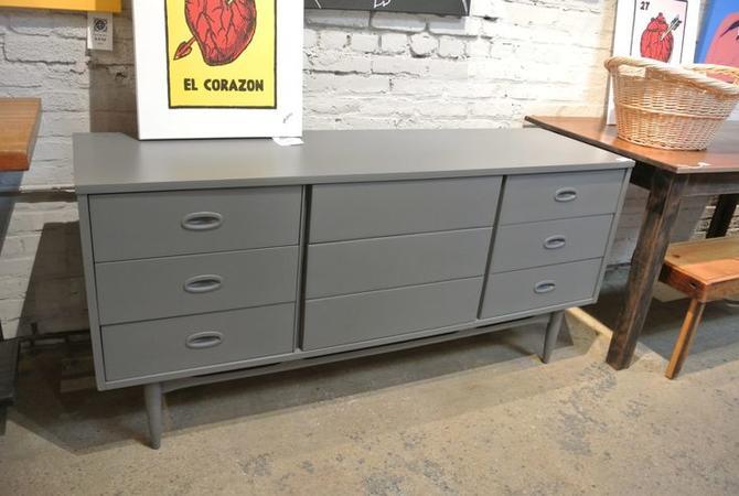 Grey Painted MCM Dresser