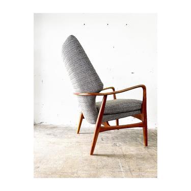 Aksel Bender Madsen and Schubell Danish Mid Century Modern Highback Chair by FlipAtik