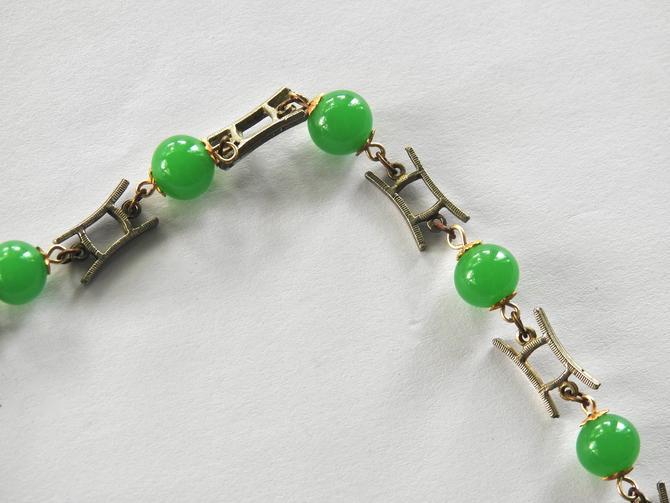 Asian Jade Glass Necklace by LegendaryBeast