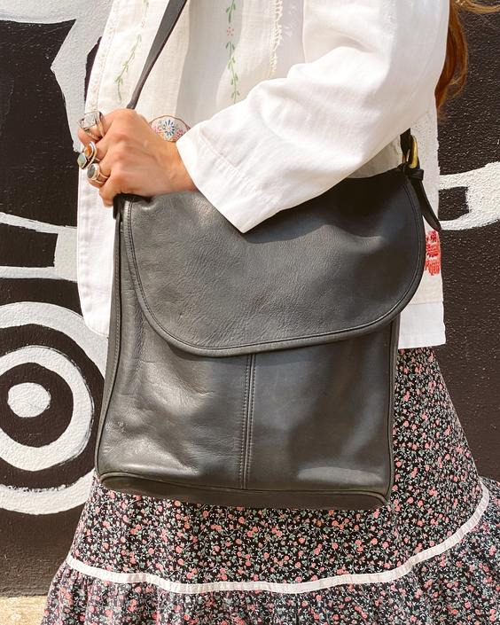 Large Fold Over Coach Bag