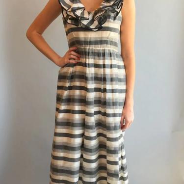 1960's Oscar De La Renta for Jane Derby Silk Striped Gown by TheKitVintage
