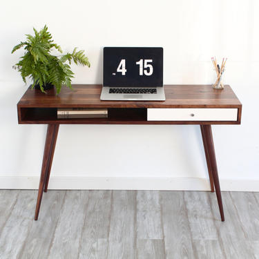 Mid Century Modern Sofa Table Console Table Laptop Desk by jeremiahcollection