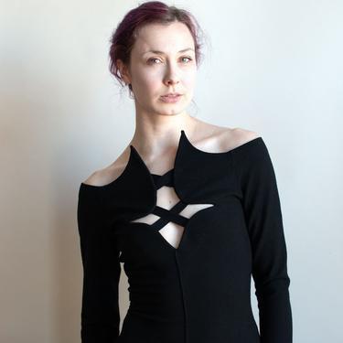 1990s Black Dress | Romeo Gigli by FemaleHysteria