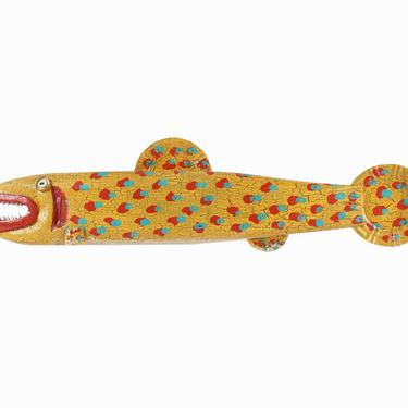 Steve Meadows Fish Wall Sculpture S.D. Meadows Folk Art Gallery by VintageInquisitor