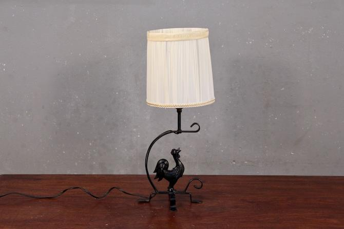 Petite Iron Rooster Table Lamp