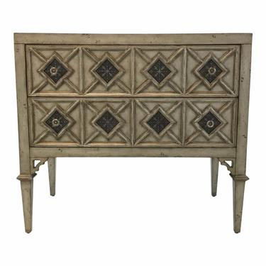 Transitional Ambella Home Gray Wood Cadella Chest of Drawers