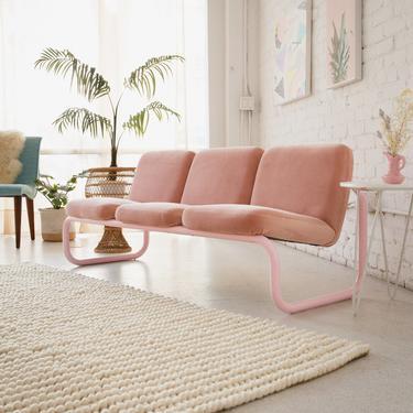 Pink 3 Seater Bench