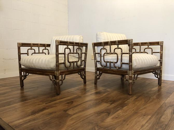 McGuire San Francisco Marview Chairs Pair