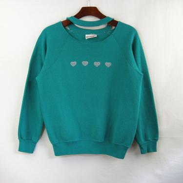 Studded Heart Necklace Sweatshirt