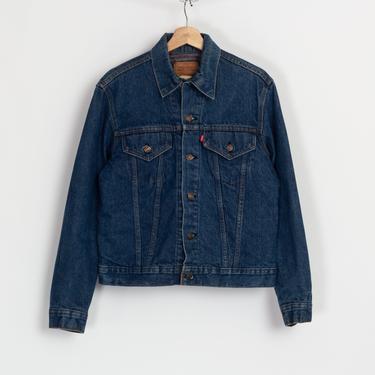 Vintage Levi's Blanket Lined Denim Jacket - Size 40, Men's Small | 80s Unisex Jean Trucker Jacket by FlyingAppleVintage