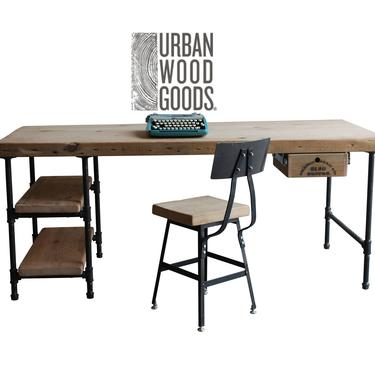 """Reclaimed Wood Chair/Counter/Bar height stool. Offered in 3 heights 18"""" table, 25"""" counter, 30"""" bar.  You choose height and finish. by UrbanWoodGoods"""