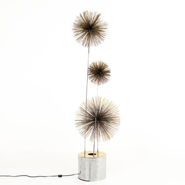 Curtis Jere Mid Century Pom Urchin Lighted Floor Sculpture - mcm by ModernHill