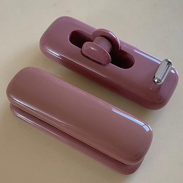 Mauve Eldon Plastic Stapler