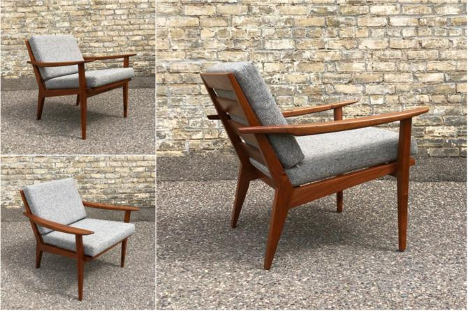 Made In Minnesota: Walnut Easy Chair #1