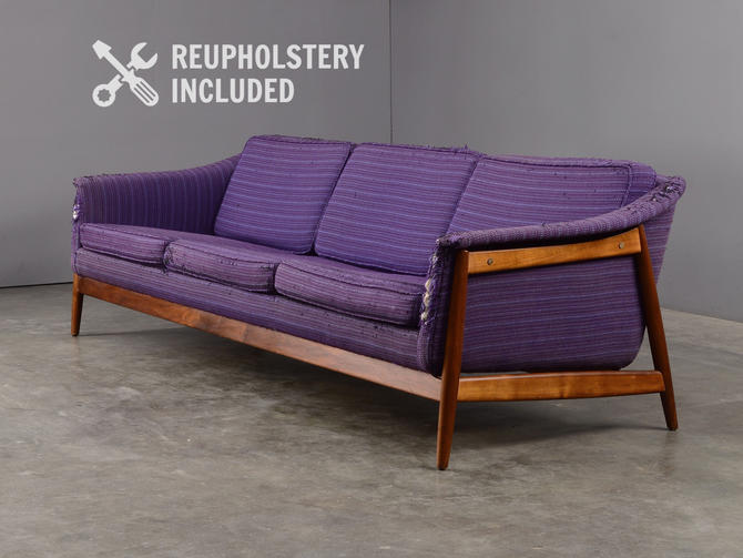 8ft Folke Ohlsson Sofa Mid Century Modern Couch by Dux by MadsenModern