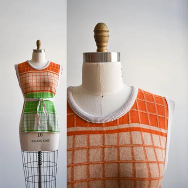 1970s Long Knit Sweater Vest w/ belt by milkandice